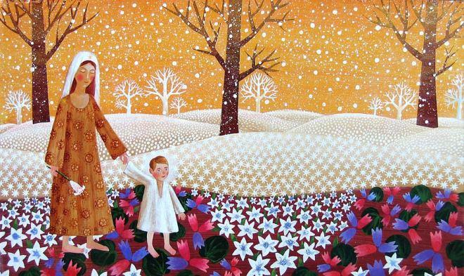 Теплая зима в рисунках Ольги Кваши