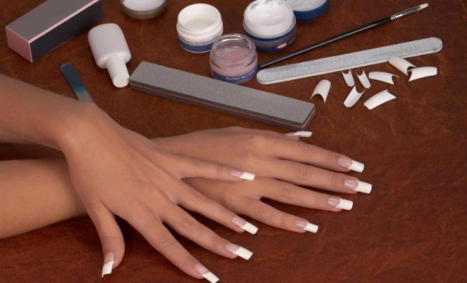 самостоятельно нарастить ногти акрилом
